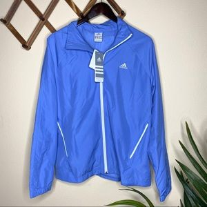 NWT Adidas Neon Blue/White Wind Jacket